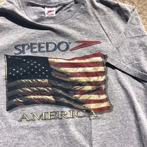 Vintage 90's speedo America single stitch shirt L